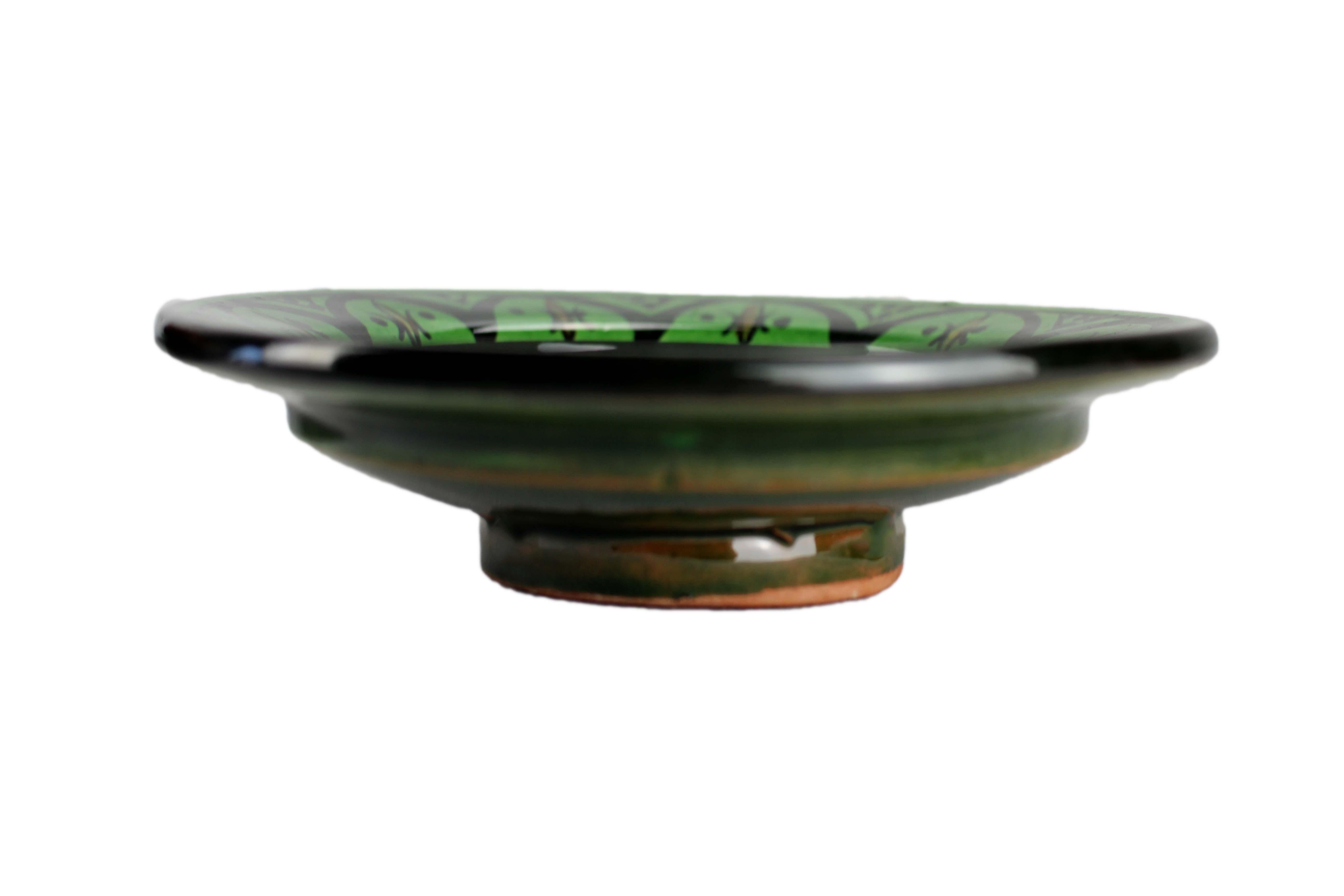 orientalische keramik teller rund 17cm fes zarra. Black Bedroom Furniture Sets. Home Design Ideas